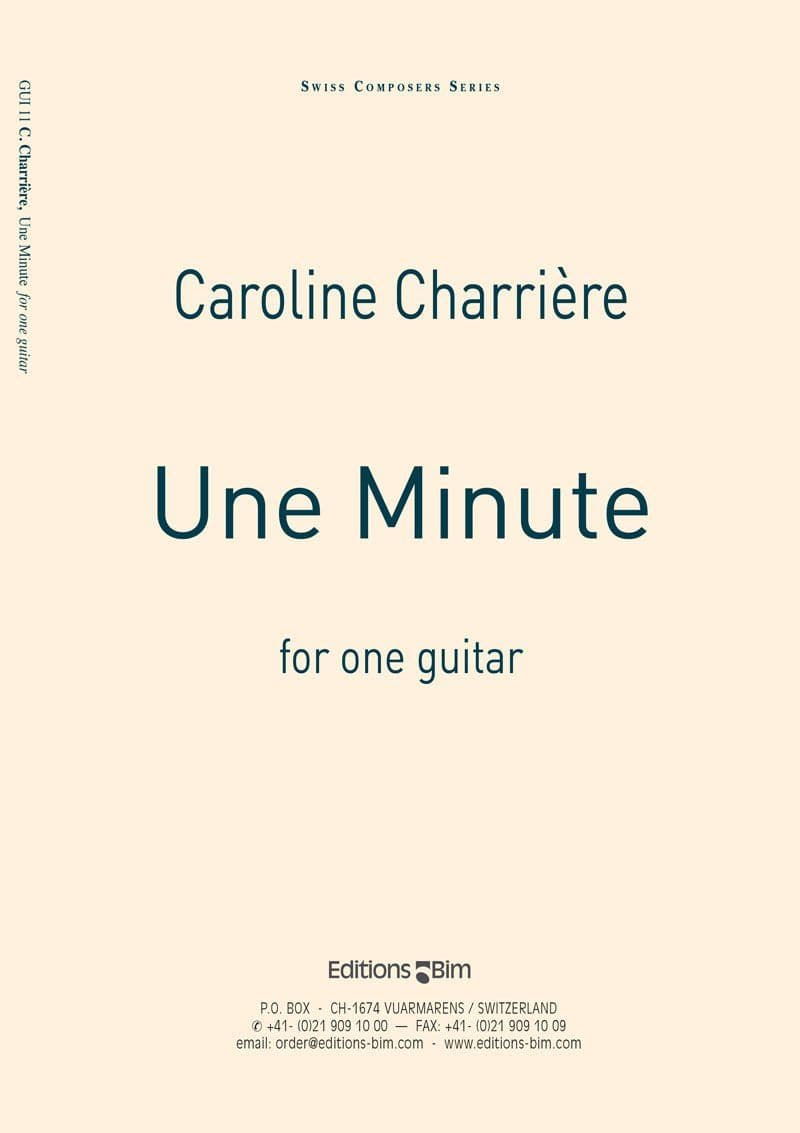 Charriere Caroline Une Minute Gui11