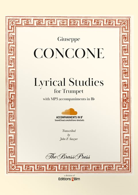 Concone Giuseppe Lyrical Studies Trumpet Tp138
