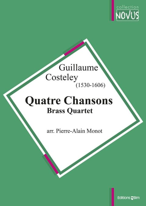 Costeley Guillaume 4 Chansons Ens20