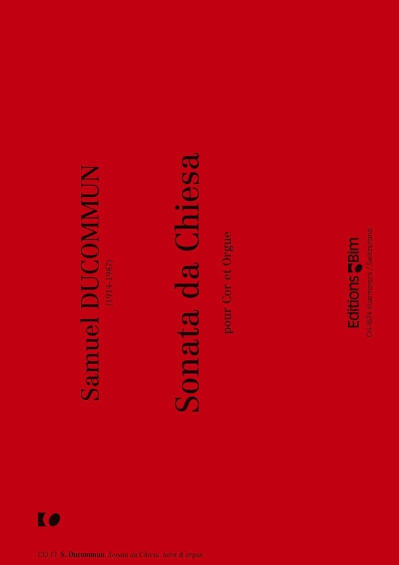 Ducommun Samuel Sonata Da Chiesa Co17
