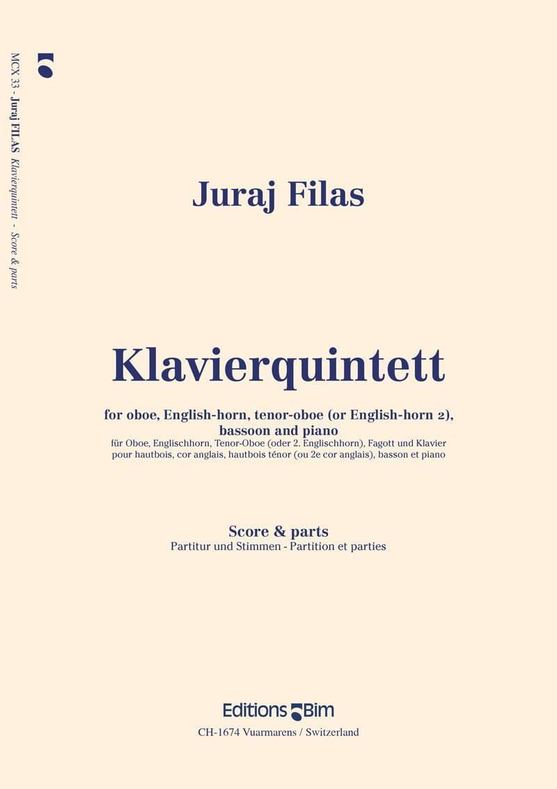 Filas Juraj Klavier Quintett Mcx33