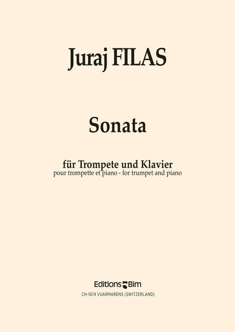 Filas Juraj Trumpet Sonata Tp85