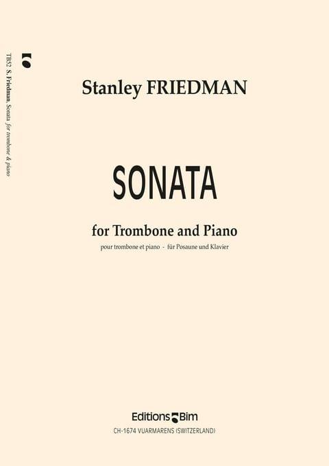 Friedman Stanley Trombone Sonata Tb52