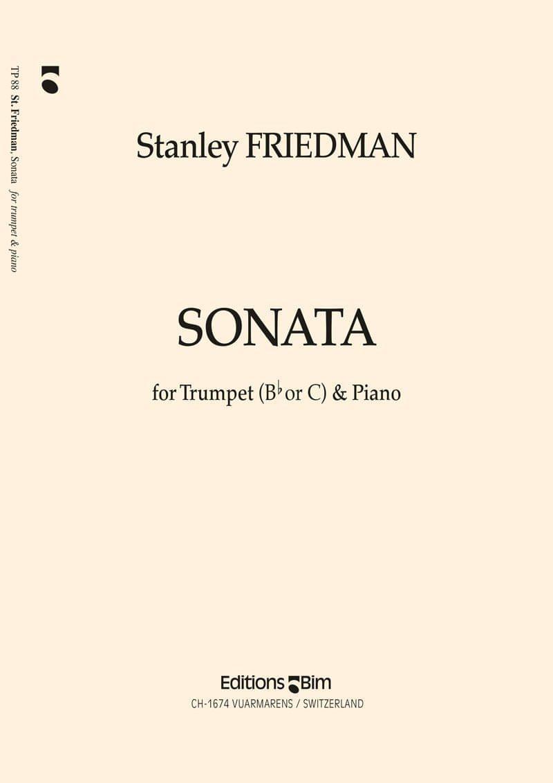 Friedman Stanley Trumpet Sonata Tp88