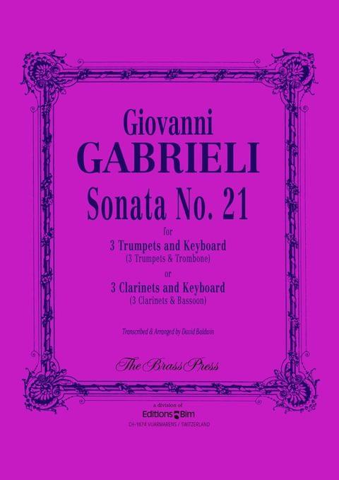 Gabrieli Giovanni Sonata No 21 Tp143