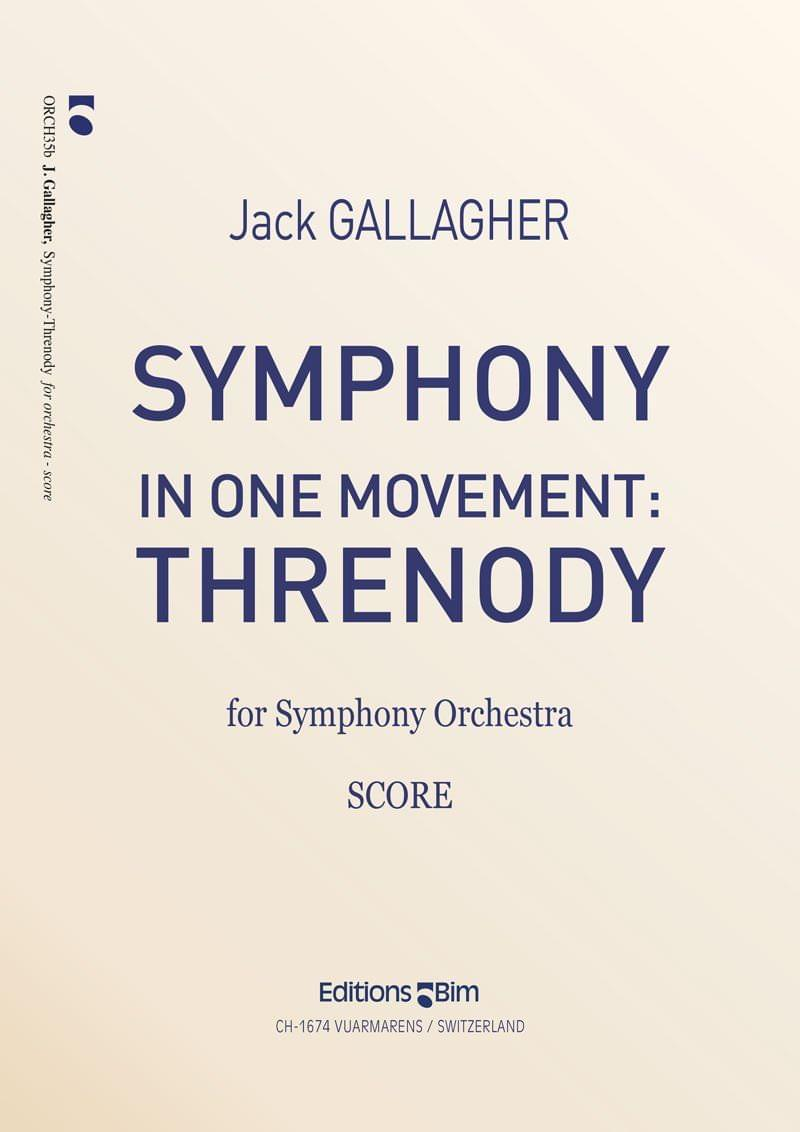 Gallagher Jack Symphony In One Mouvement Threnody Orch35