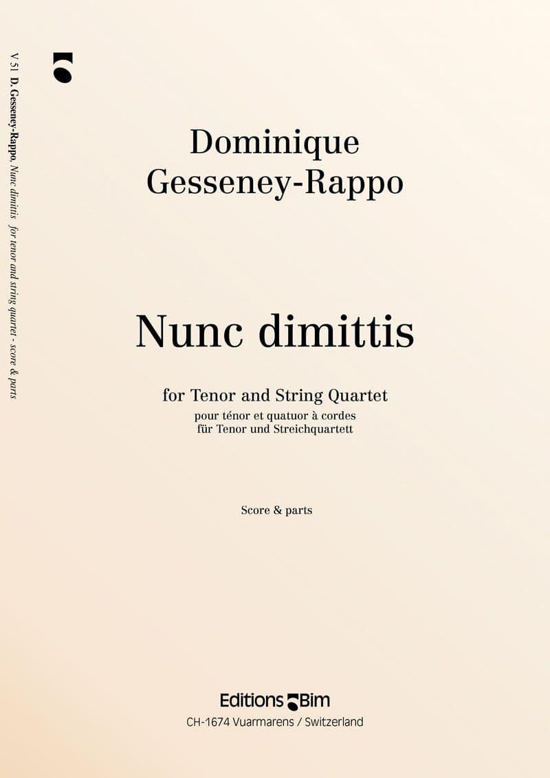 Gesseney Dominique Nunc Dimittis V51