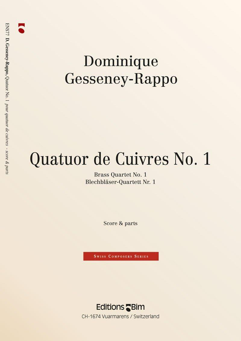 Gesseney Dominique Quatuor De Cuivres No 1 Ens77