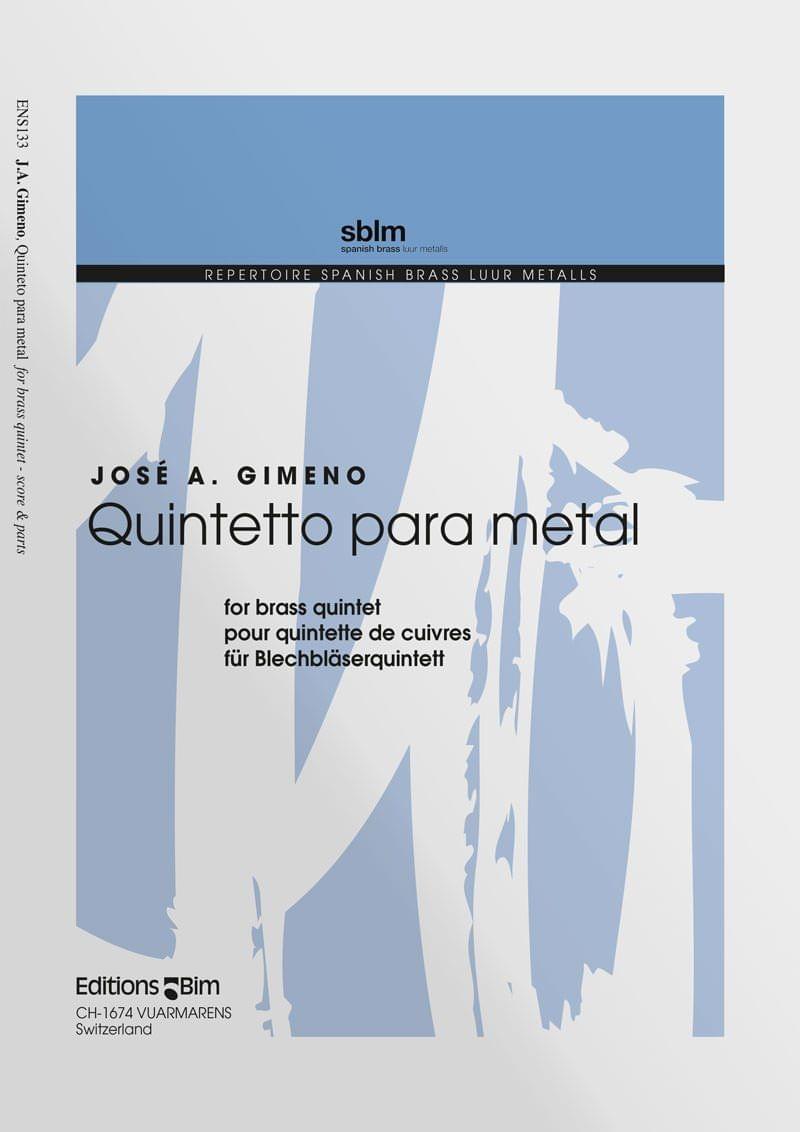 Gimeno Jose Quintetto Para Metal Ens133
