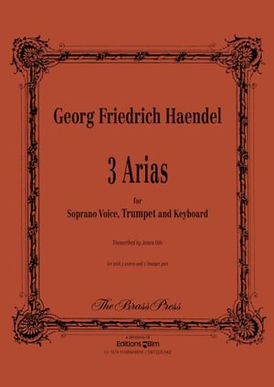 Haendel Georg Friedrich 3 Arias Soprano Voice Tp150