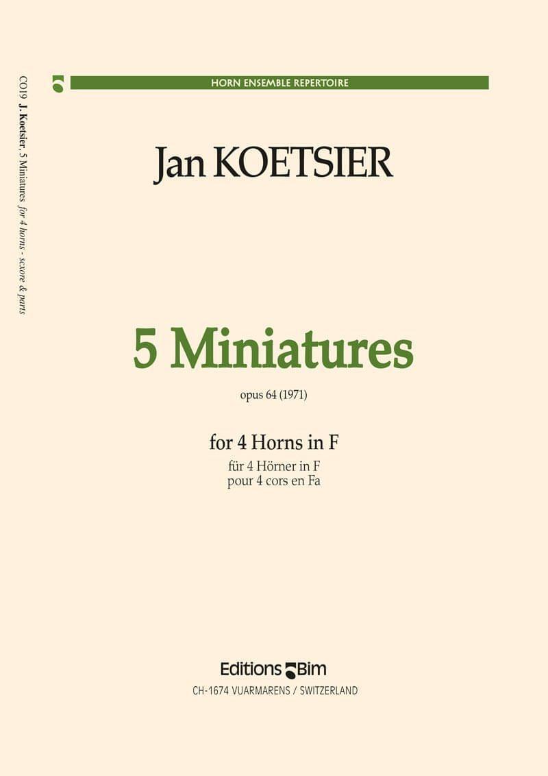 Koetsier Jan 5 Miniatures Co19