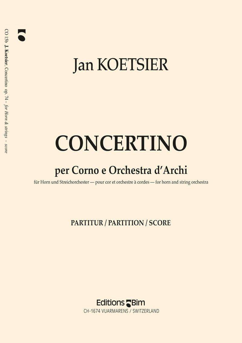 Koetsier Jan Concertino Horn Co15