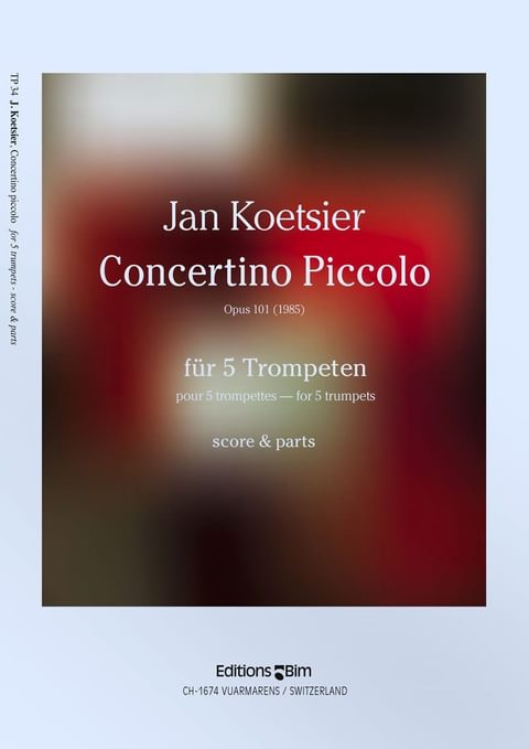 Koetsier Jan Concertino Piccolo Tp34
