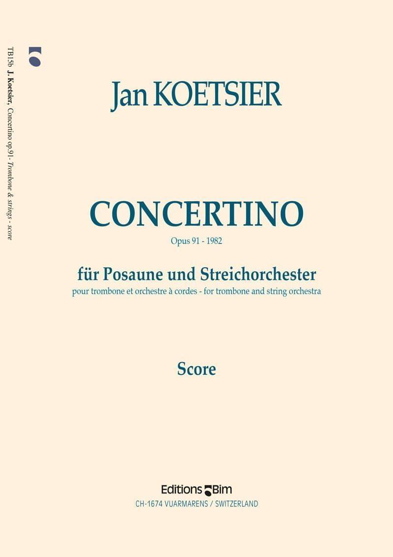 Koetsier Jan Concertino Trombone Tb15