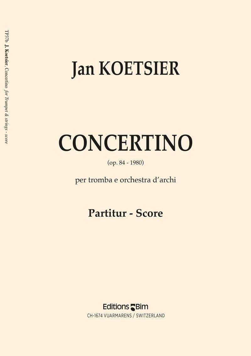 Koetsier Jan Concertino Trumpet Tp37
