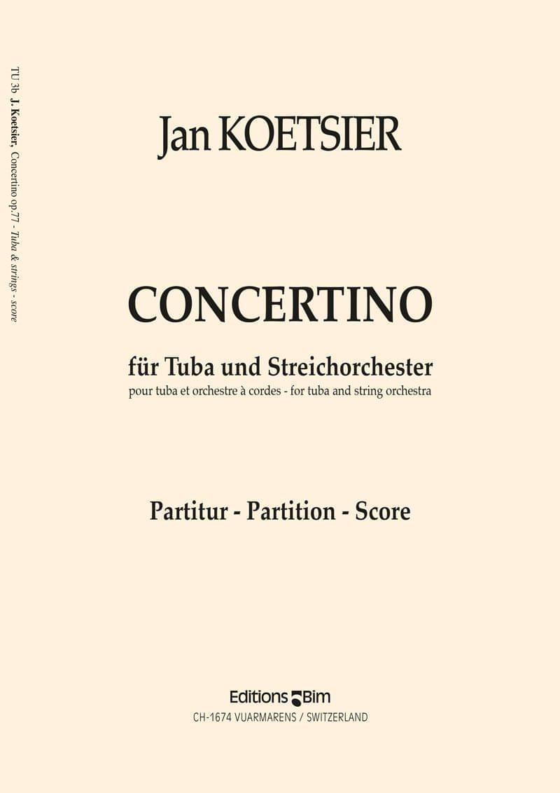 Koetsier Jan Concertino Tuba Tu3