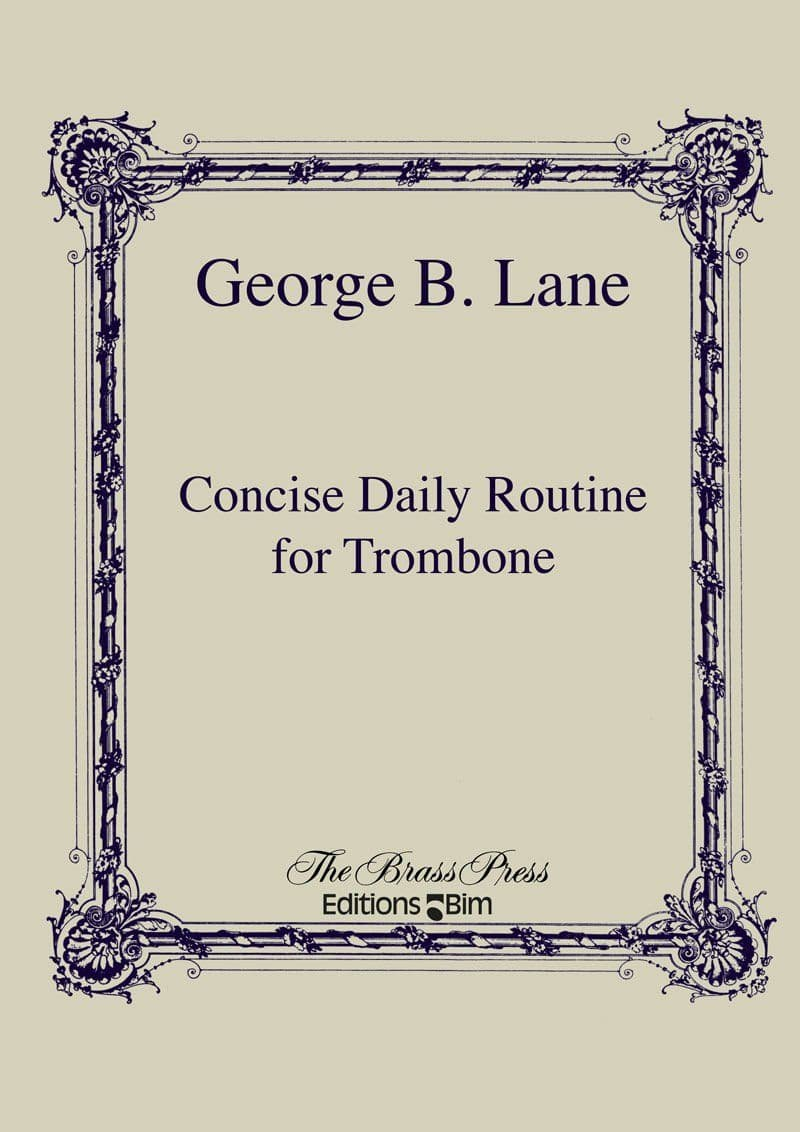 Lane George Concise Daily Routine Trombone Tb36