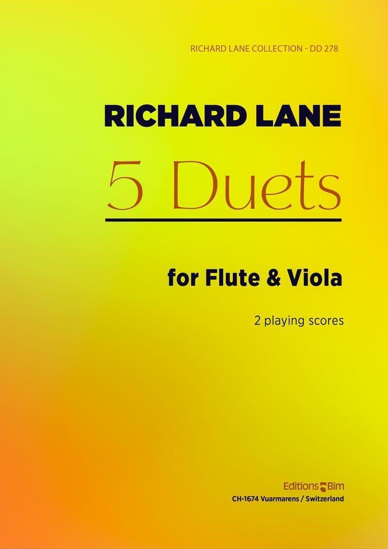 Lane Richard 5 Duos Viola And Flute Mcx76