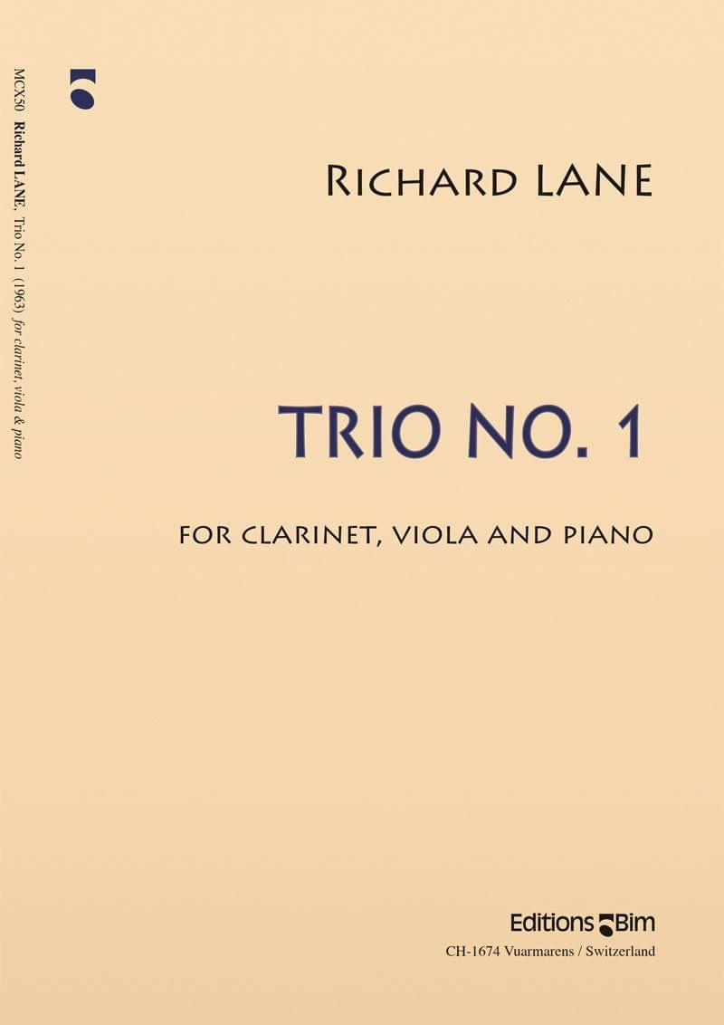 Lane Richard Trio No 1 Clarinet Viola Piano Mcx50