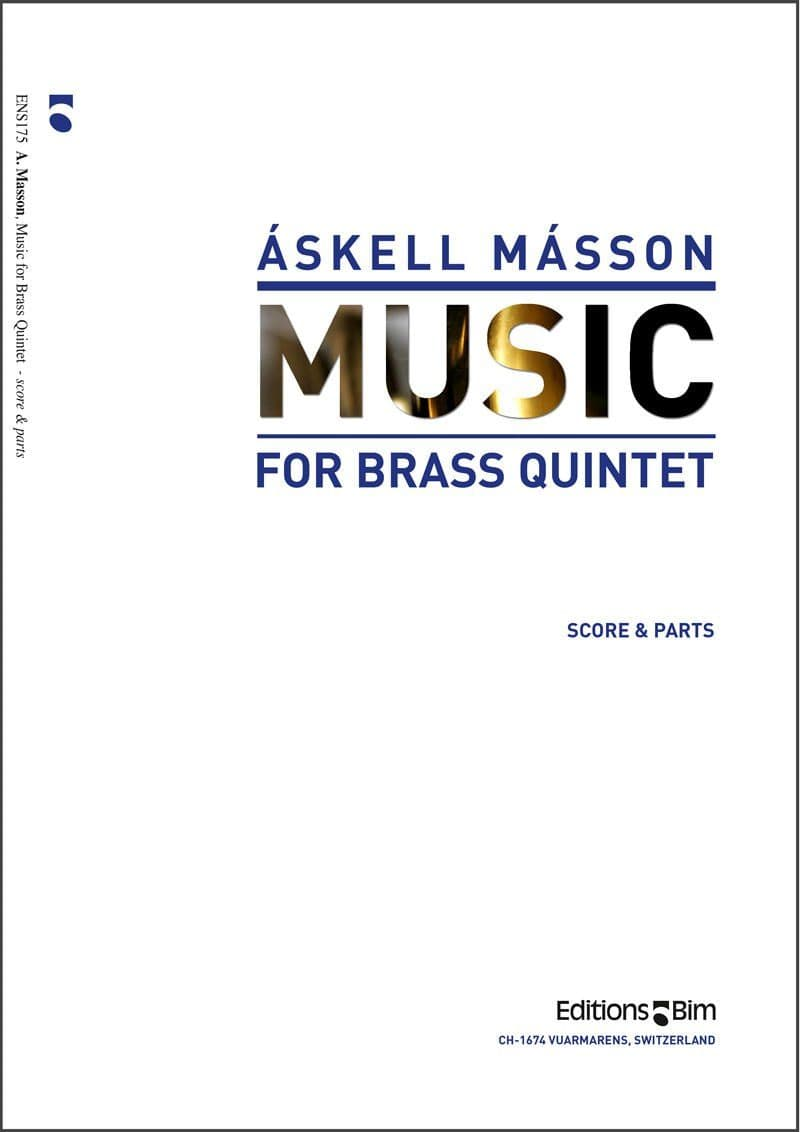 Masson Askell Music For Brass Quintet Ens175