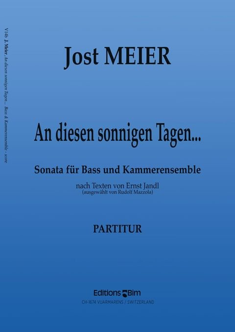 Meier Jost An Diesen Sonnigen Tagen V14