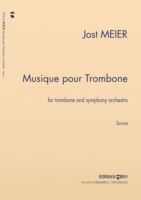 Meier Jost Musique Pour Trombone Tb7