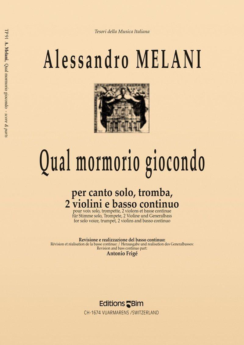 Melani Allessandro Qual Mormorio Giocondo Tp91