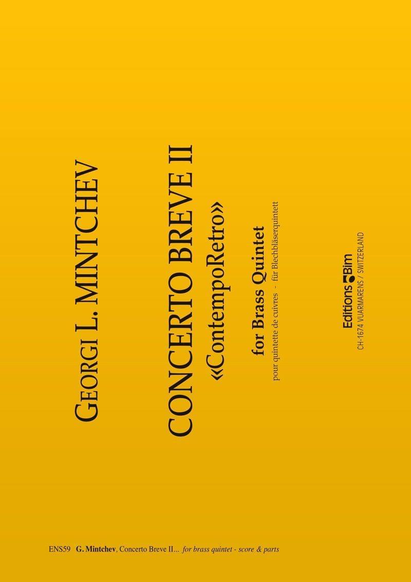 Mintchev Georgi Concerto Breve Ii Ens59