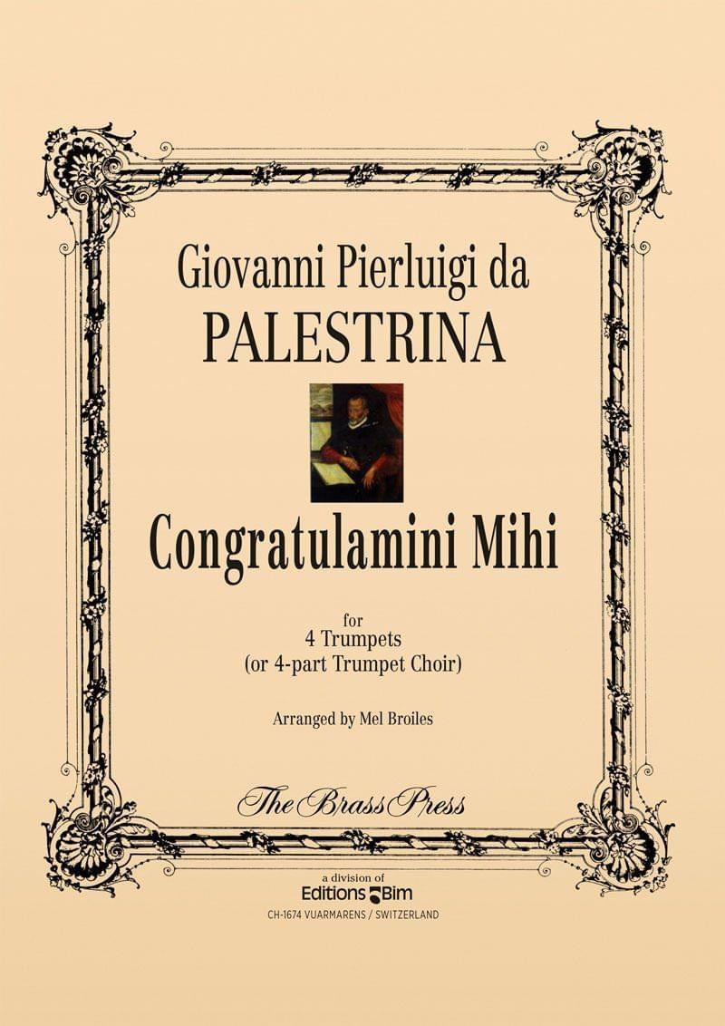 Palestrina Giovanni Congratulamini Mihi Tp188