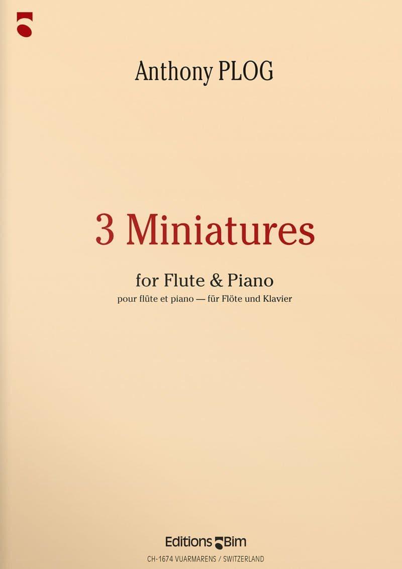 Plog Anthony 3 Miniatures For Flute Fl29