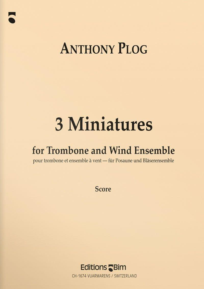 Plog Anthony 3 Miniatures For Trombone Tb22
