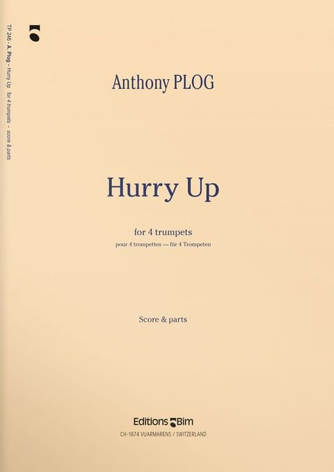 Plog Anthony Hurry Up Tp246