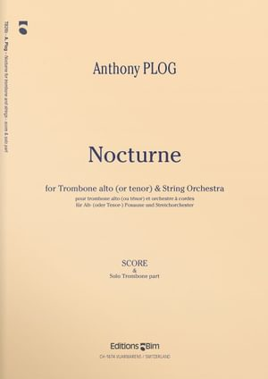 Plog Anthony Nocturne For Trombone Tb26