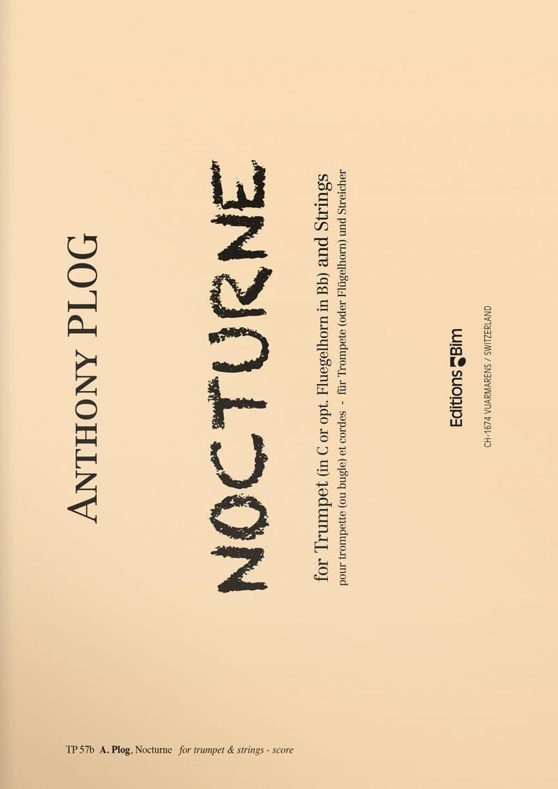 Plog Anthony Nocturne For Trumpet Tp57B