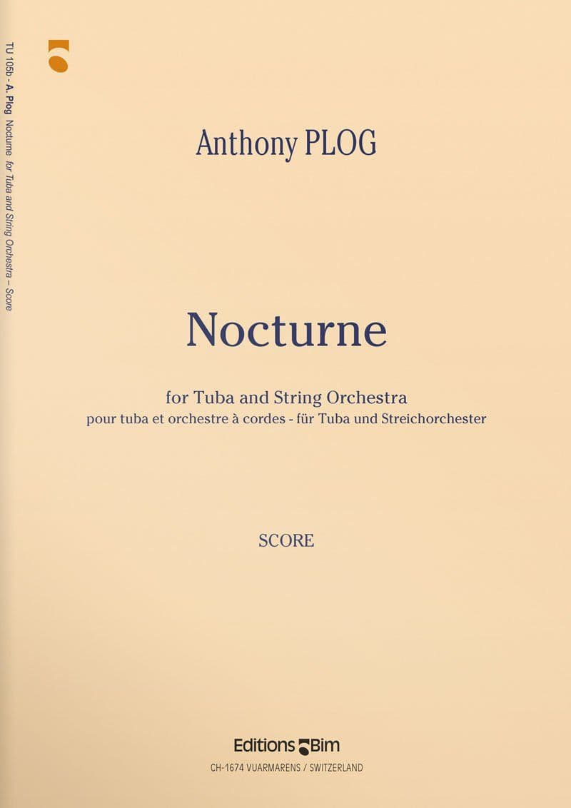 Plog Anthony Nocturne For Tuba Tu105