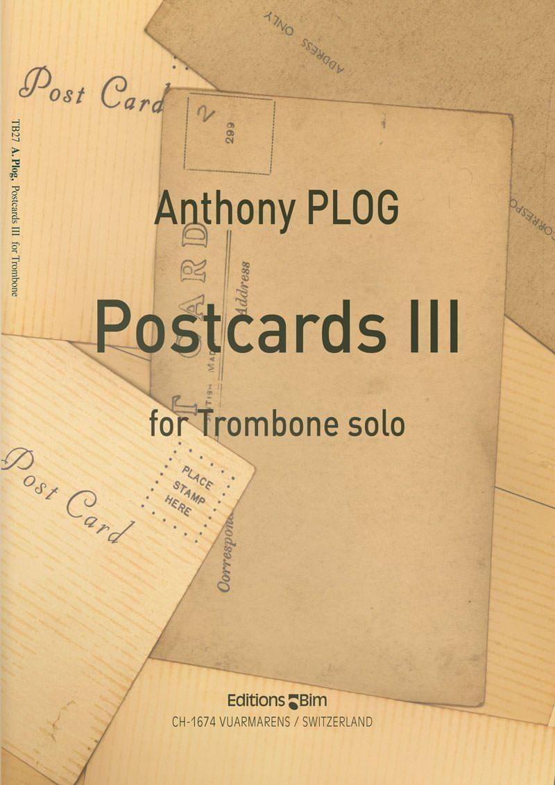 Plog Anthony Postcards Iii For Trombone Tb27