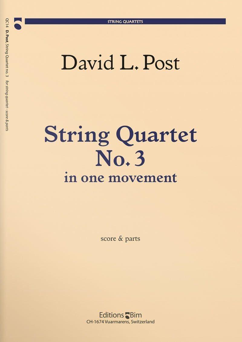 Post David String Quartet No 3 Qc14