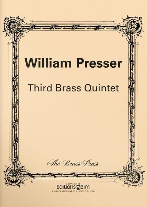 Presser William 3Rd Brass Quintet Ens94