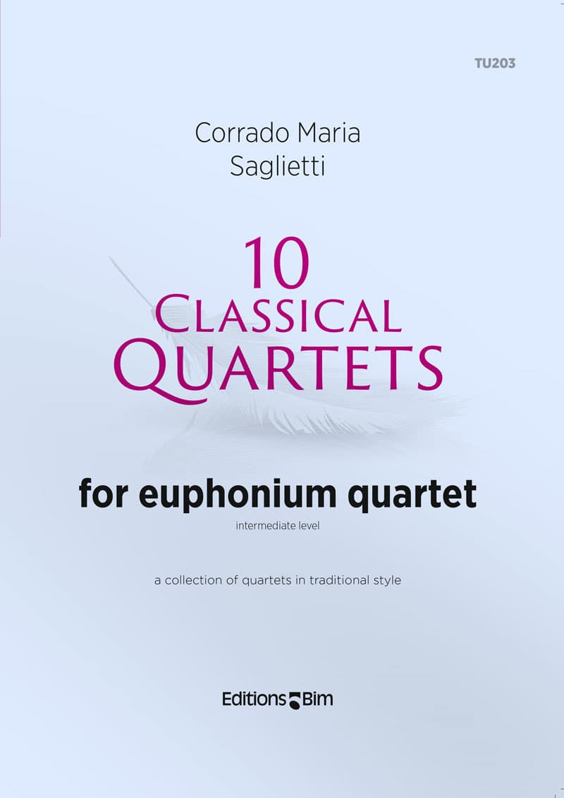 Saglietti Corrado Maria 10 Classical Quartets Euphonium Tu203
