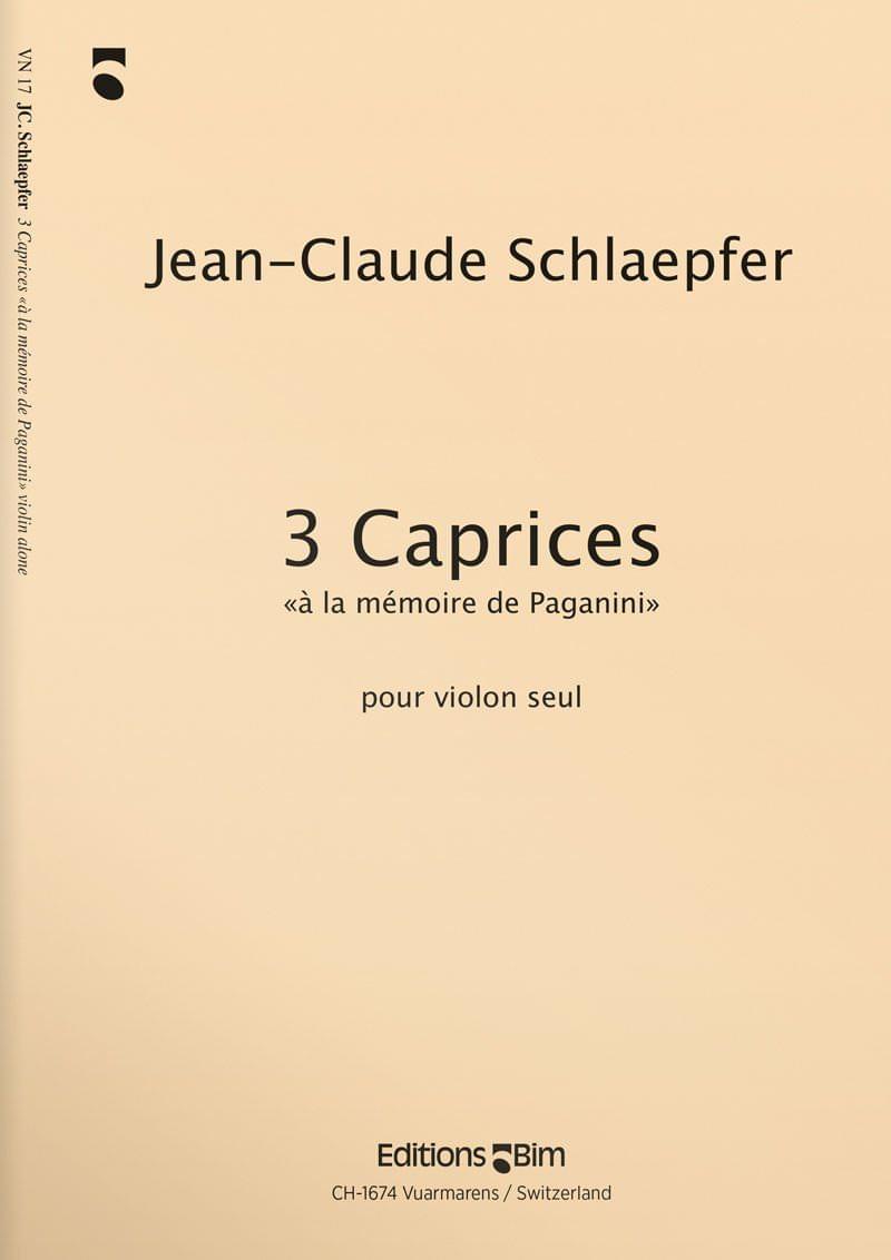 Schlaepfer  Jean  Claude 3  Caprices  Vn17