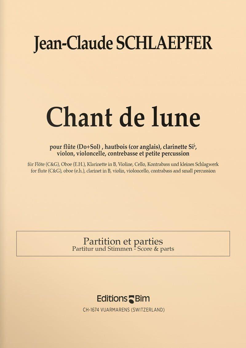 Schlaepfer  Jean  Claude  Chant De  Lune  Mcx12