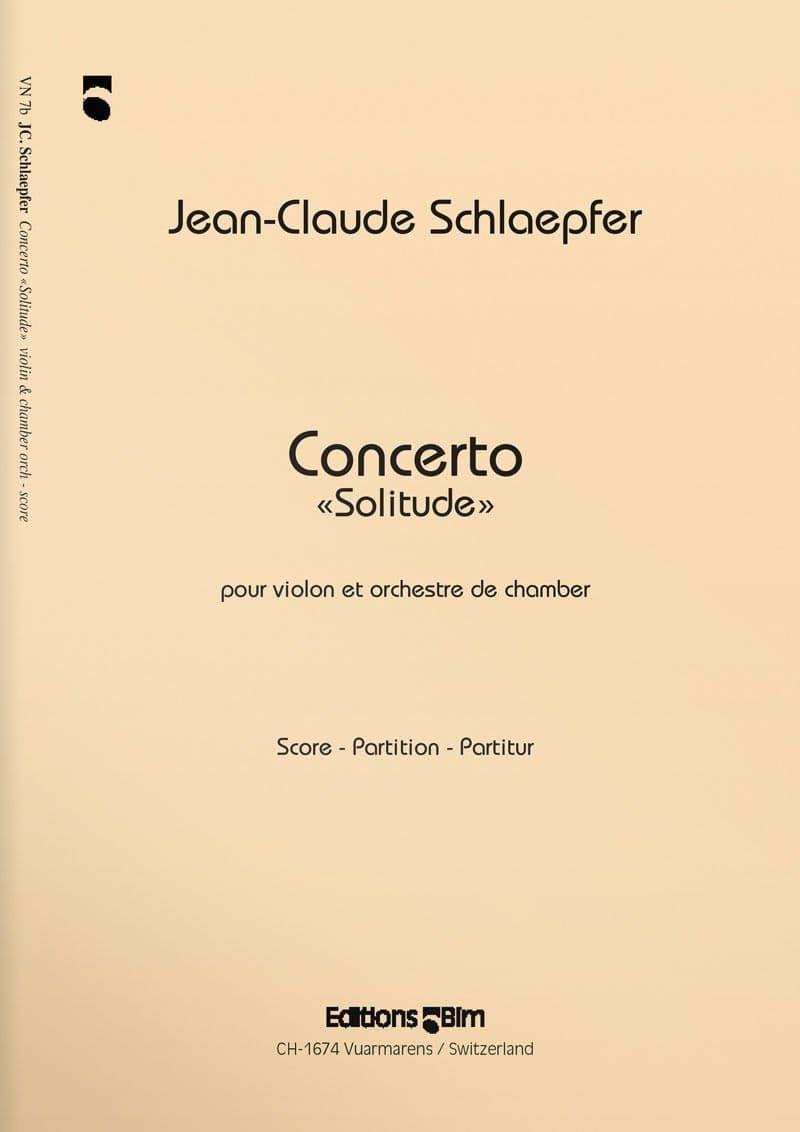 Schlaepfer  Jean  Claude  Concerto  Solitude  Vn7