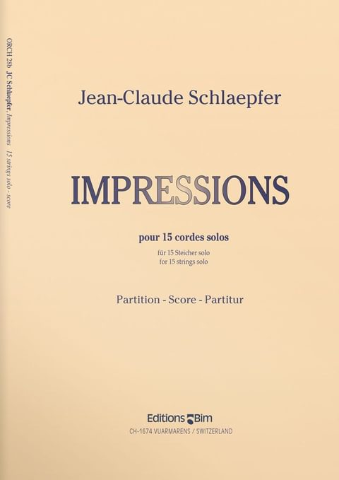 Schlaepfer  Jean  Claude  Impressions  Orch28