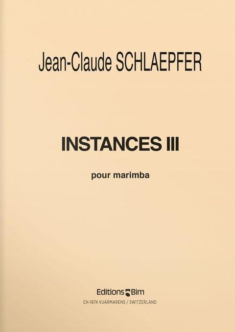 Schlaepfer  Jean  Claude  Instances  Iii  Perc1