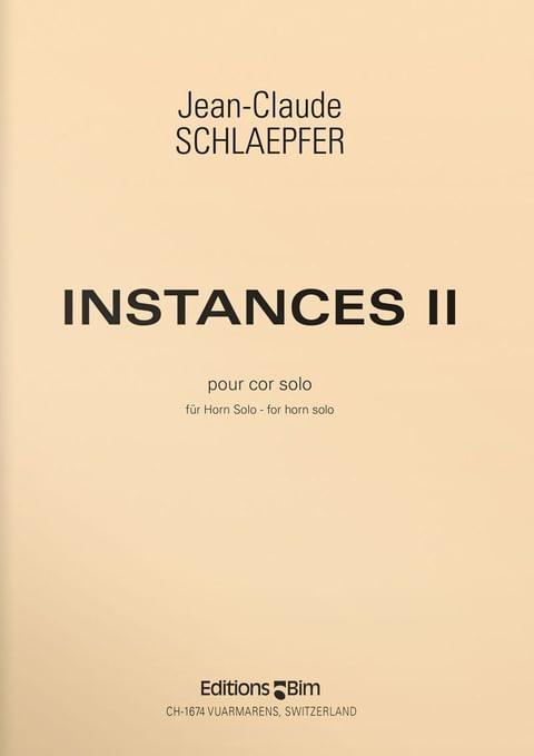 Schlaepfer  Jean  Claude  Instances  Ii  Co47