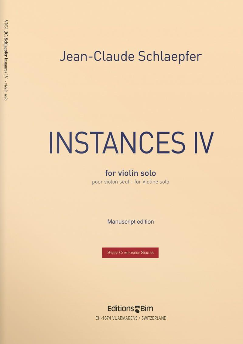 Schlaepfer  Jean  Claude  Instances  Iv  Vn31