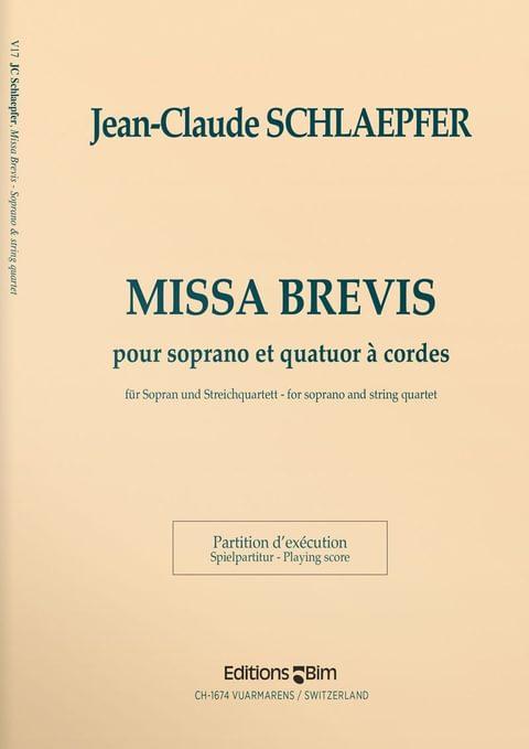 Schlaepfer  Jean  Claude  Missa  Brevis  V17