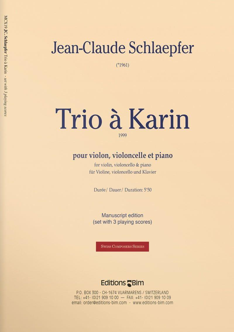 Schlaepfer  Jean  Claude  Trio A  Karin  Mcx19