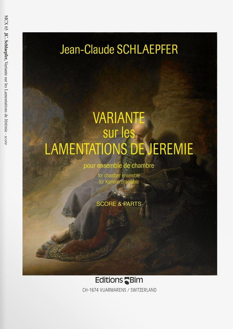Schlaepfer  Jean  Claude  Variantes  Lamentations  Jeremie  Mcx65