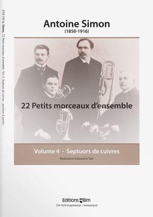 Simon  Antoine 22 Petits Morceaux D Ensemble Vol 4  Ens186